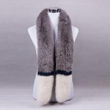 Luxury Wedding Genuine Fox Fur Neck Rings Shawls Winter Women Fur Scarves Pashmina Wraps LF4284
