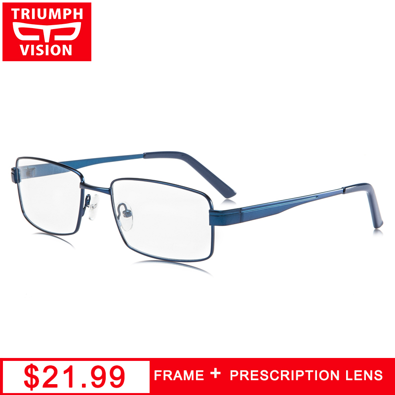 Qualität Myopie Hohe Metall Rezept Männer Vision Blau Brillen Lesebrille Für Computer Platz C4 Triumph wBvXgq