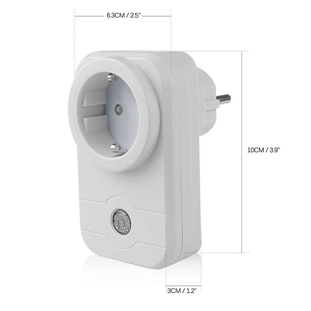1/2 sztuk bezprzewodowy inteligentne gniazdo WiFi Timier funkcja inteligentne gniazdko ue usa standardowy za pośrednictwem aplikacji telefon inteligentny wtyczka do domu AC100-240V