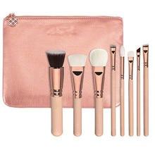 Кисточки для макияжа цвета розового золота роскошный набор Vol.2, 8 кусты сцепления+ подарок