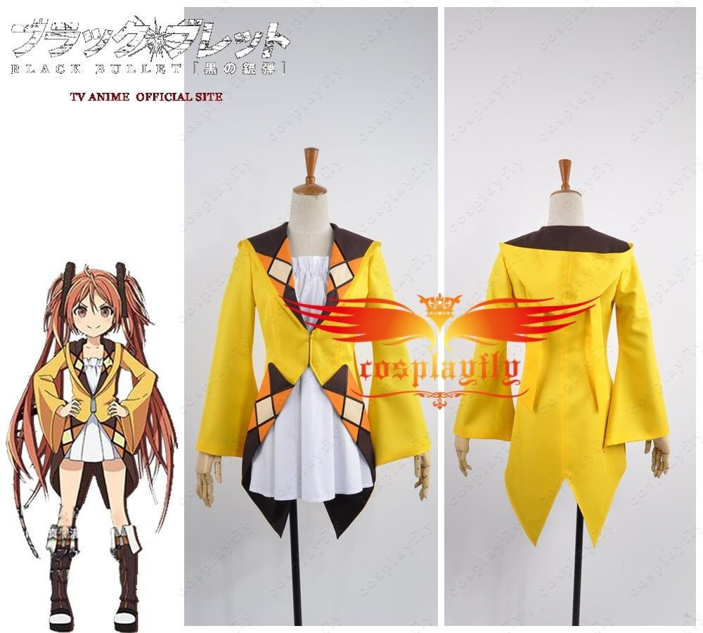 Anime Black Bullet Enju Aihara Coat and Overalls Cosplay Costume Any Size Top Dress Skirt Women Uniform Clothing Outfit