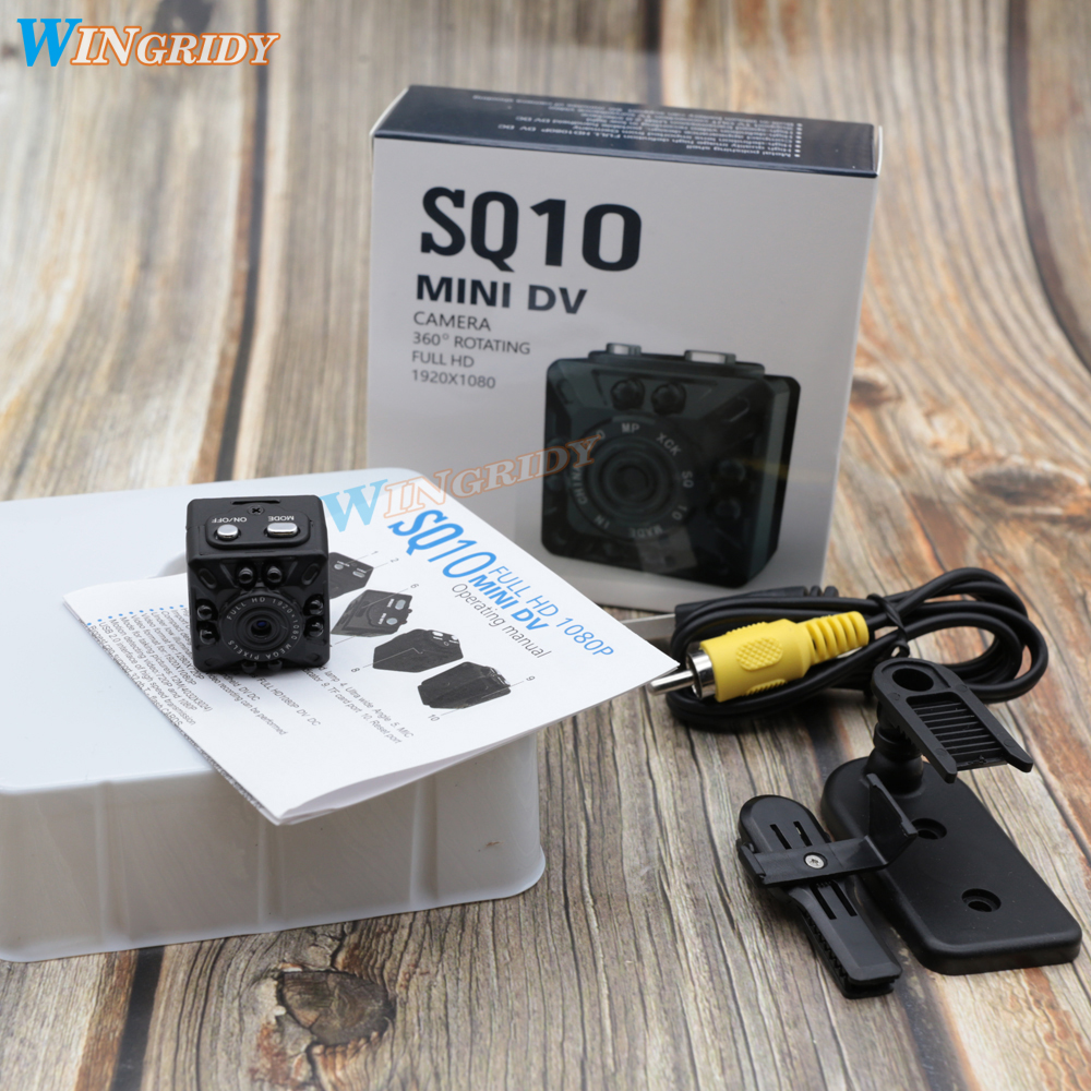 D'origine Mini caméscope SQ10 11 Mini Nuit Full HD 1080 P enregistreur caméra HD détecteur de mouvement Micro maquillage pour cheveux Infrarouge Vision Cam