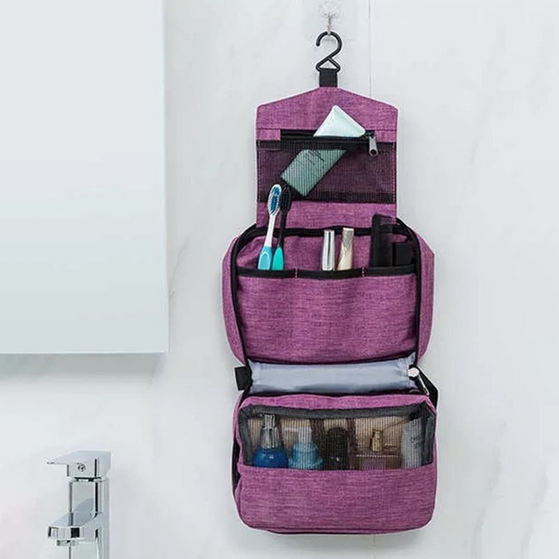 Travel-Toiletry-Bag Cosmetic-Bag Shower-Organizer Hanging Bathroom Women for And