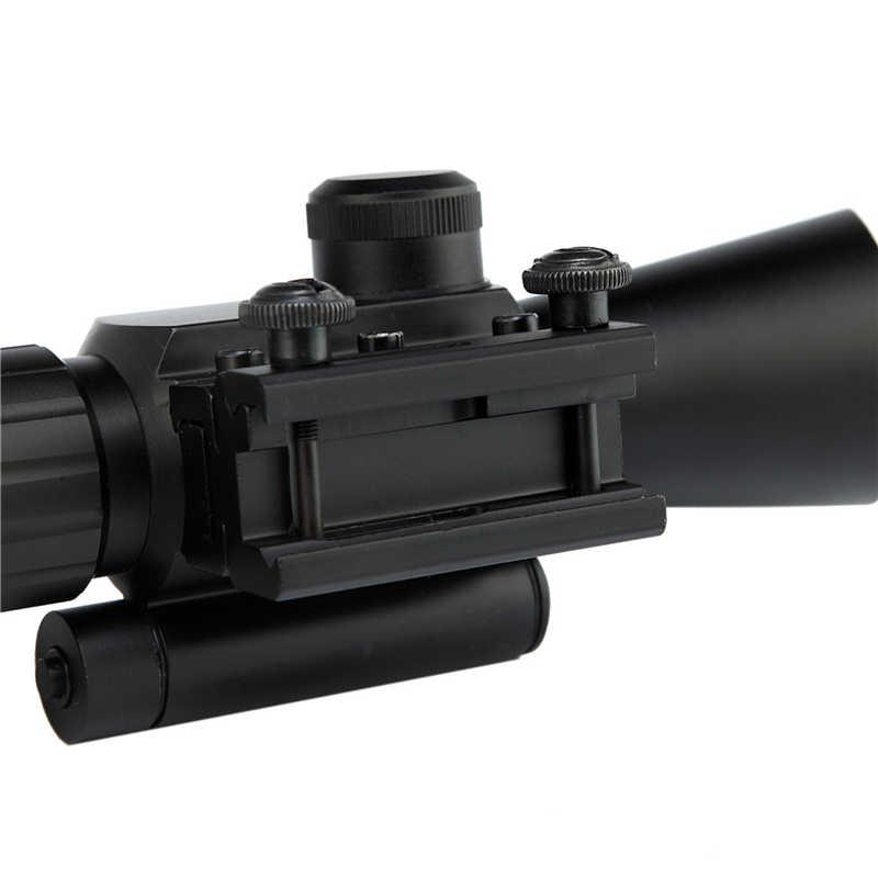 Mira de Rifle táctica M7 4X30 mira de Rifle iluminada Rifle táctico Alcance de caza con láser rojo/verde