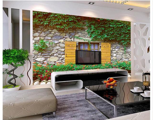 Customized 3d wallpaper 3d tv wall paper murals rural small garden vines wall mural art background