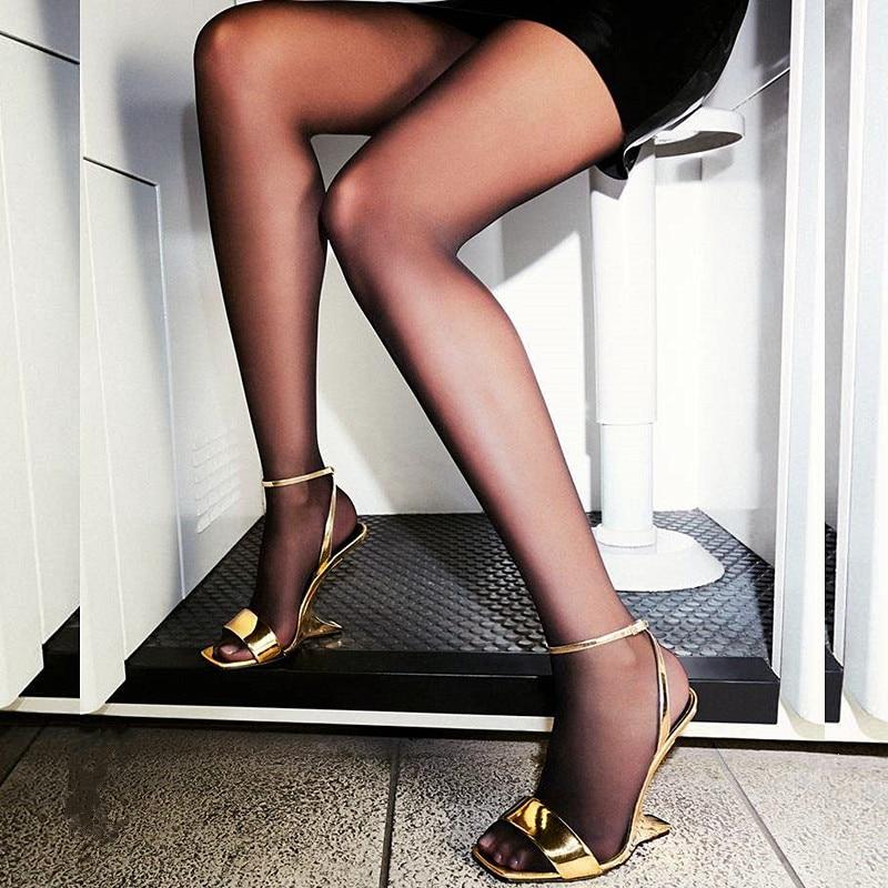 Talons Hauts Stilettos Show Noce De Toe Peep Sexy Pompe Ruban as Talon Chaussures Mujer Piste Femmes Sandalias Femme Or Étrange Show Sandales As xUOf7f