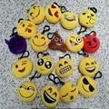 100pcs/set Cute Plush Toy Sofa Decorations Soft Emoji Smiley Emoticon Yellow Round Cushion Pillow Stuffed Plush Toy Doll