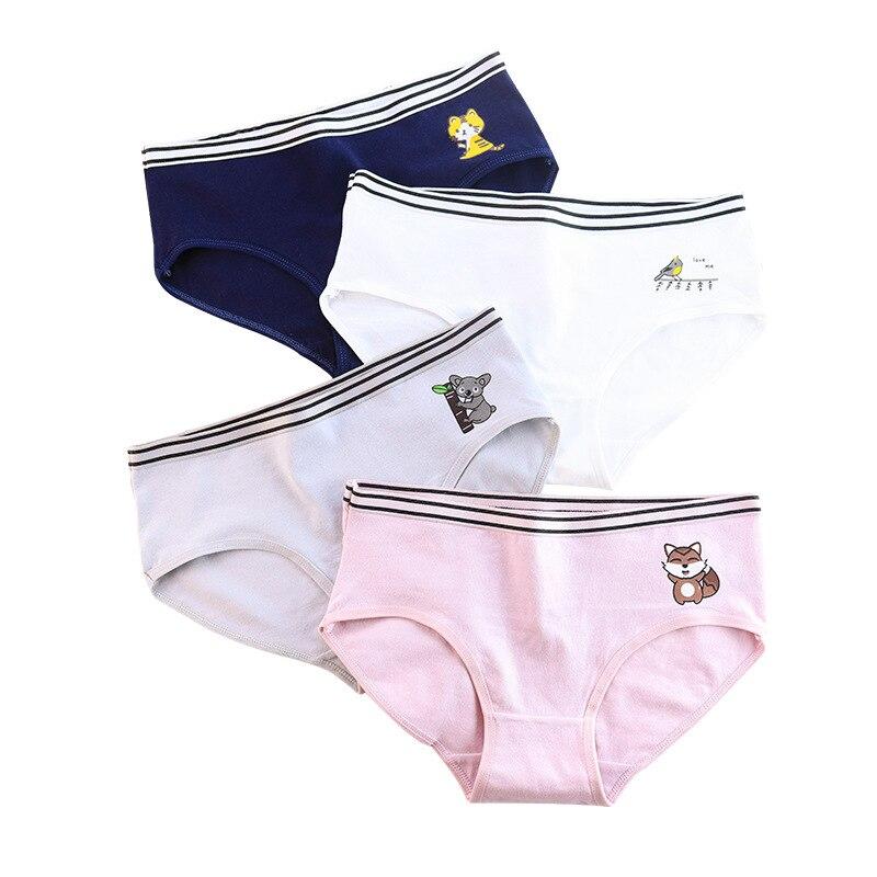 Panties for women new fashion cotton gril briefs cartoon lovely underwear woman lingerie female underpants ladies panty 2020