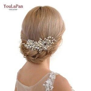 YouLaPan Wedding Tiara Bridal Combs Wedding Headwear Rhinestone Hair Comb Decorative Beaded Hair Combs Bridal Headdress HP42(China)