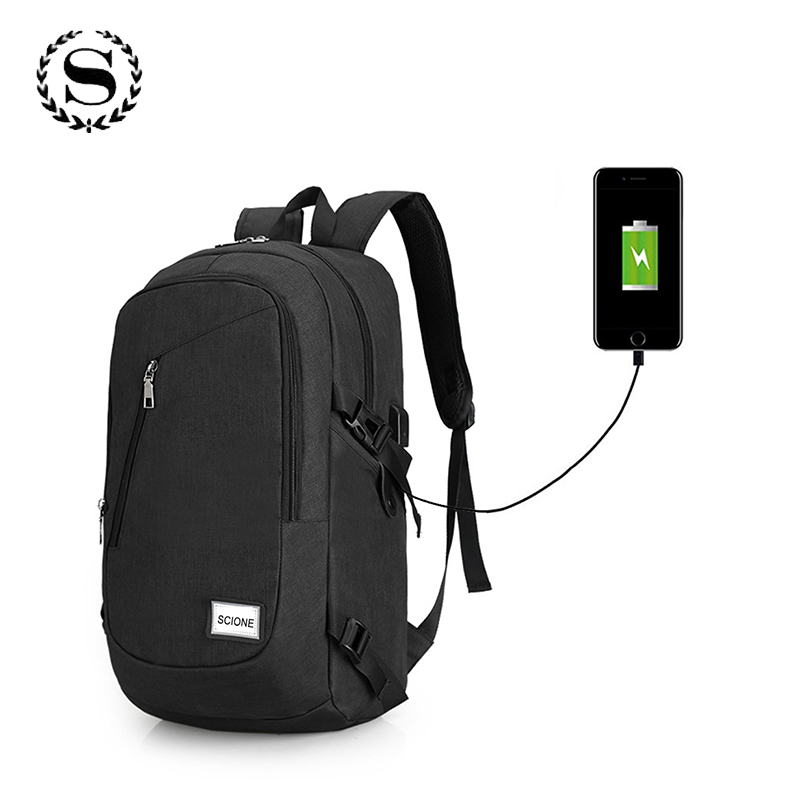 529db44257d Best buy Scione High School Bags for Teenage Book Bag USB Anti theft  Computer Backpacks Men Fashion Leisure Travel Backpack Mochila online cheap