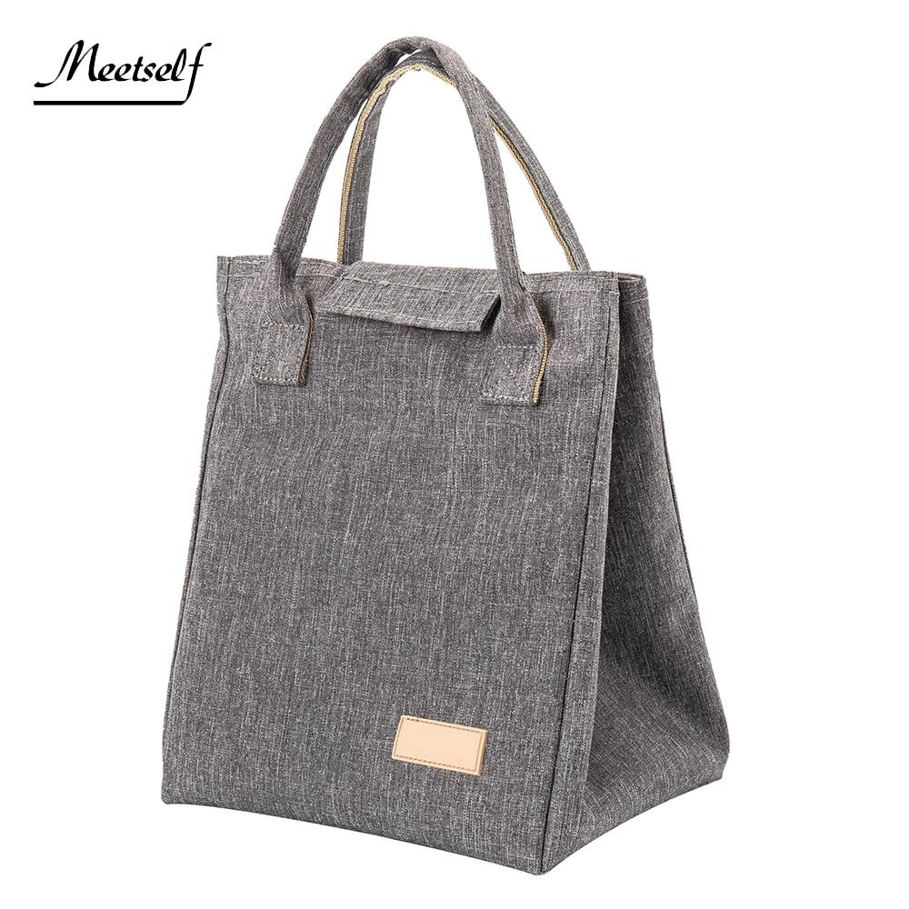 picnic box cooler bags sac cute large big handbag school cool insulated tote Thermal lunch food bag for women Men and kids