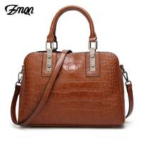 ZMQN Luxury Women Handbag 2018 Crocodile Pattern Shoulder Bag For Women Leather Handbags Women Famous Brand