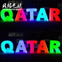Легкая надувные буквы надувные украшения лампы надувные модель письмо Катар