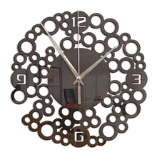 Acrylic Mirror Wall Clock Art Figure Numbers With Self-adhesive Glue Backing Mirror Stickers DIY Home Decoration Wall Clocks 032 diy wall clock acrylic mirror stickers art home decoration