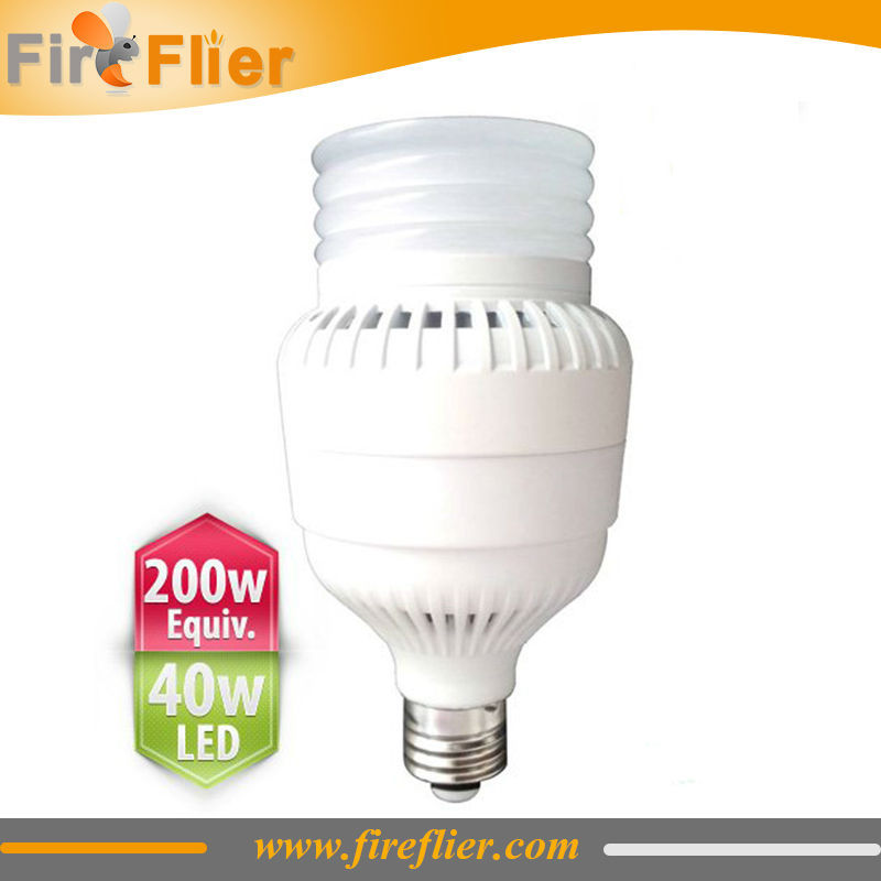 E26 E27 LED Bulb 40W  replacement of 200W incandescent bulb, 100W HPS and MH Lamp for warehouse,store