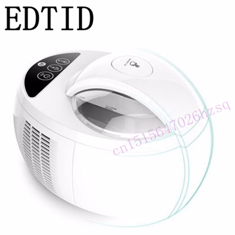 EDTID Household Automatic Fruit ice cream machine1L  High-capacity ice cream maker edtid 12kgs 24h portable automatic ice maker household bullet round ice make machine for family bar coffee shop eu us uk plug
