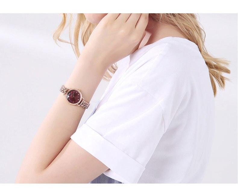 ساعة يد نسائية مرصعة ب 12 لون من حجر الراين 14