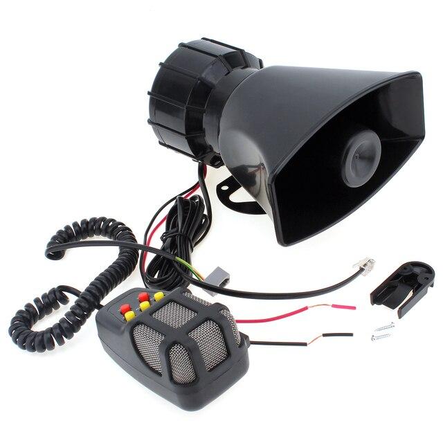 DC12V 100W motocykl samochód Auto pojazd ciężarówka 3/5/7 dźwięk dźwięk głośny klakson syrena policja strażacy pogotowia Alarm ostrzegawczy głośnik