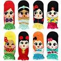 1 pcs mulheres meninas princesa bonito dos desenhos animados 8 cores meias de algodão low cut meias 2017 outono primavera summer livre grátis