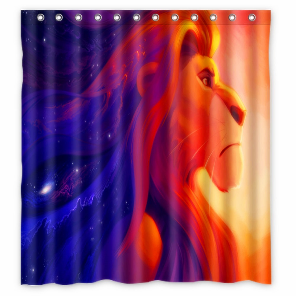 Vixm Shower Curtains The Lion King Polyester Fabric