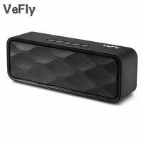 Vefly 4.2 bluetoothスピーカーハイファイポータブルワイヤレスボックス、mp3音楽プレーヤーレシーバーオーディオfmラジオ付きusb aux tfラジカセ