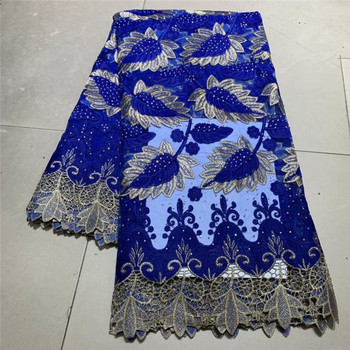 African Stones Lace Fabric 2019 High Quality Lace French Net Embroidery Tulle Lace Fabrics For Nigerian Party Dresses  df65-2851