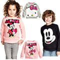 children hoodies Sweatshirts mickey minnie mouse clothing boys hoodies 2016 long sleeve cartoon sequins
