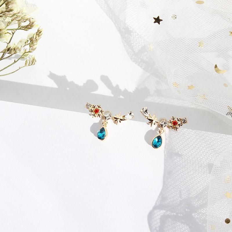 SANSUMMER Forest Fairy Snow Flower Water Drop Water Drill Earnail 2019 New Style Fashionable Temperament Women 39 s Earring 6471 in Drop Earrings from Jewelry amp Accessories