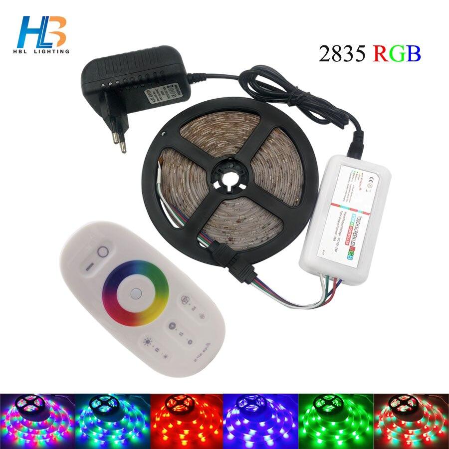 HBL RGB LED Strip Light 5M 20M 2835 led light RF controller 10M 15M 3825 Led Tape non waterproof DC12V power supply led ribbon