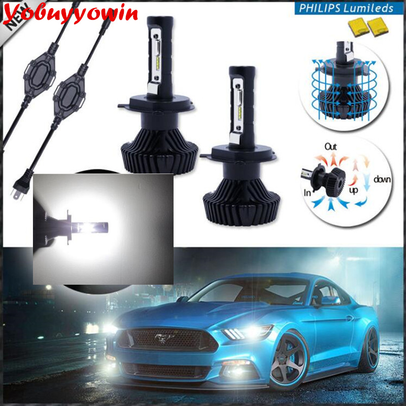 Car Auto H7 H8 H11 9004 9007 H13 H4 Canbus Error Free Auto Car LED headlight ZES LED 160W 16000LM Turbo Headlight H/L Beam Bulb awei es 10ty metal earphone stereo headset in ear noise reduction auriculares headphone with microphone for phone kulakl k