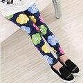 Pantalones de moda para Niños Ropa Niñas Niño de Las Polainas de Impresión de La Flor Clásico Legging para 2-13Y Bebé Niños Polainas Tobillo