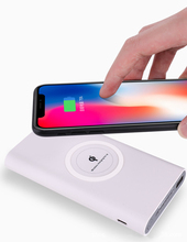 30000 mAh Мощность Bank Ци Беспроводной Зарядное устройство для iPhone X 8 плюс samsung S9 S8 плюс S6 S7 S8 Мощность мобильного банка Беспроводное зарядное утройство для телефона