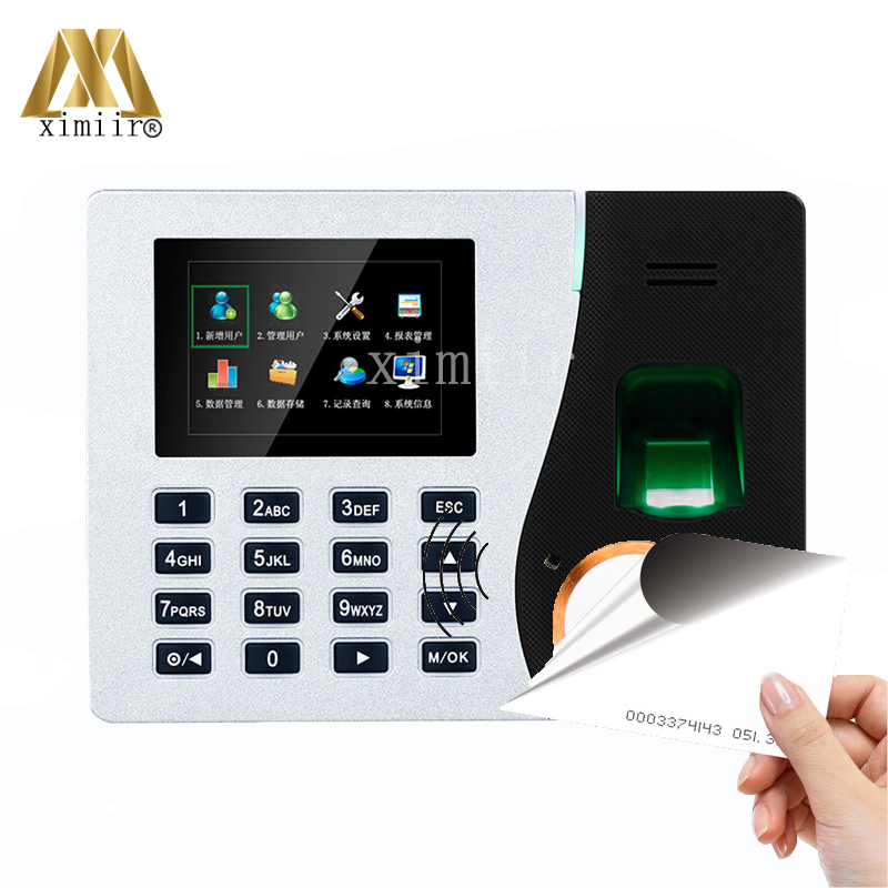 K14 ZK Biometric Fingerprint Time Attendance System With TCP/IP RFID Card Fingerprint Time Recorder Time Clock Free Shipping!! tcp ip fingerprint time recorder time clock k14 zk biometric fingerprint time attendance system