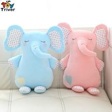 Plush Elephant Toy Stuffed Elephants Dolls Baby Kids Children Kawaii Appease Birthday Gift Pillow Cushion Home Decor Triver цена