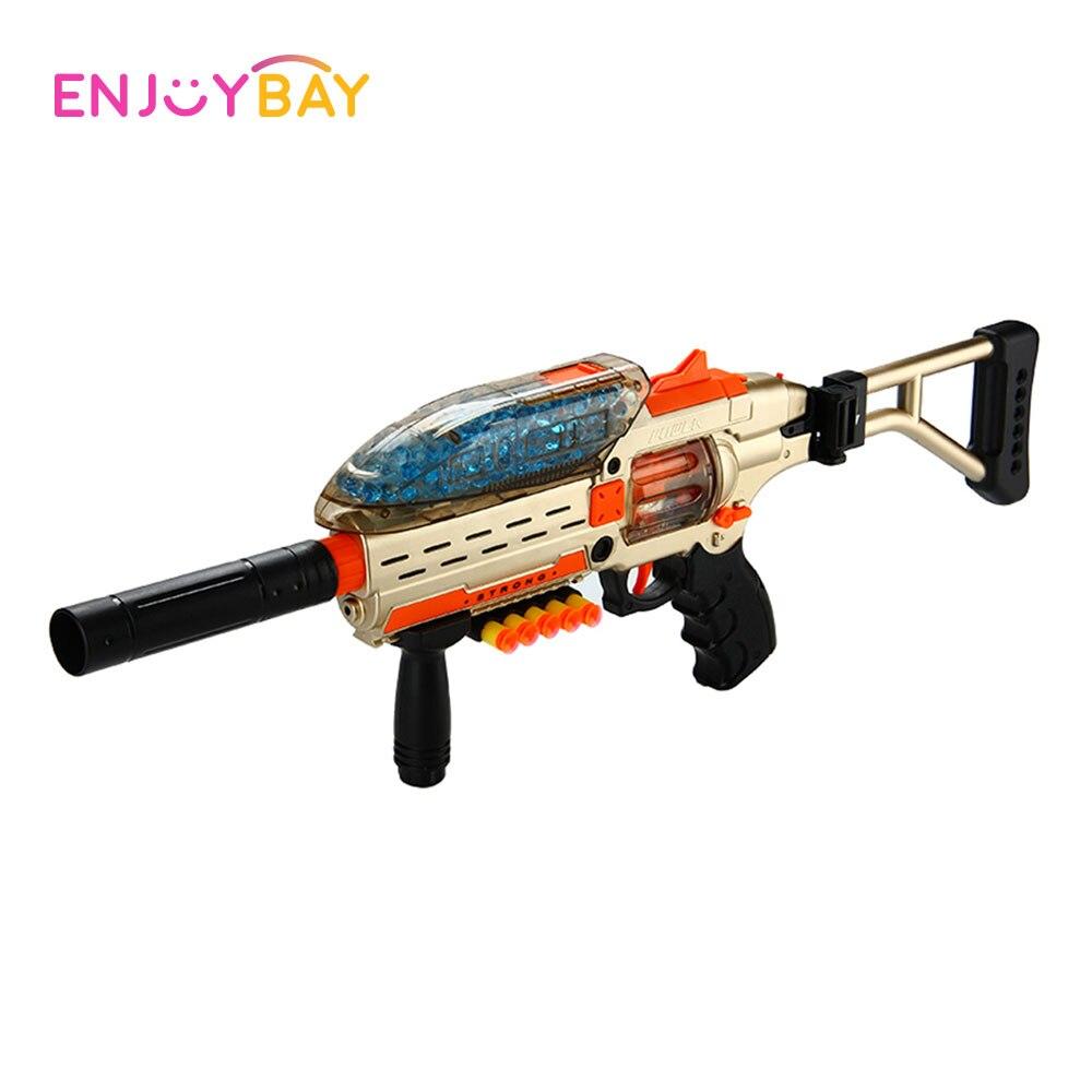 Enjoybay pistola eléctrica juguetes plástico asalto Snipe arma agua suave Bullet estalla al aire libre pistola juguetes juego de disparos pistola para niños