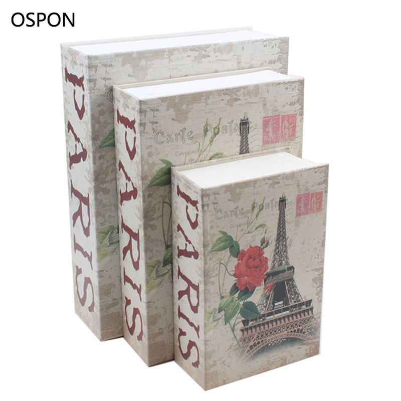 OSPON Book Safes Simulation Dictionary Secret Book Safe Money Cash Jewelry Storage Collection Box Security Password Lock Size S