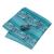 Homens Amarrar B-455 Teal Paisley Laços Abotoaduras Lenço de Seda Saco Caixa de Presente Conjuntos de Festa de Casamento de Negócios Fornece Acessórios de Moda