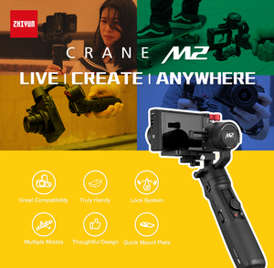 Image 4 - Zhiyun Crane M2 3 Axis Handheld Gimbal Stabilizer for Sony A6500 A6300 Canon M6 Mirrorless Camera & Action Camera & Smartphone