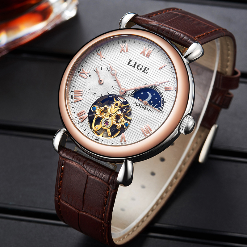 Free delivery lige watches men luxury 6815 for Lige watches
