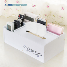 HECARE Plastic Tissue Box with Sundries box Towel Holder Waterproof Case Organizer Modern DIY Napkin
