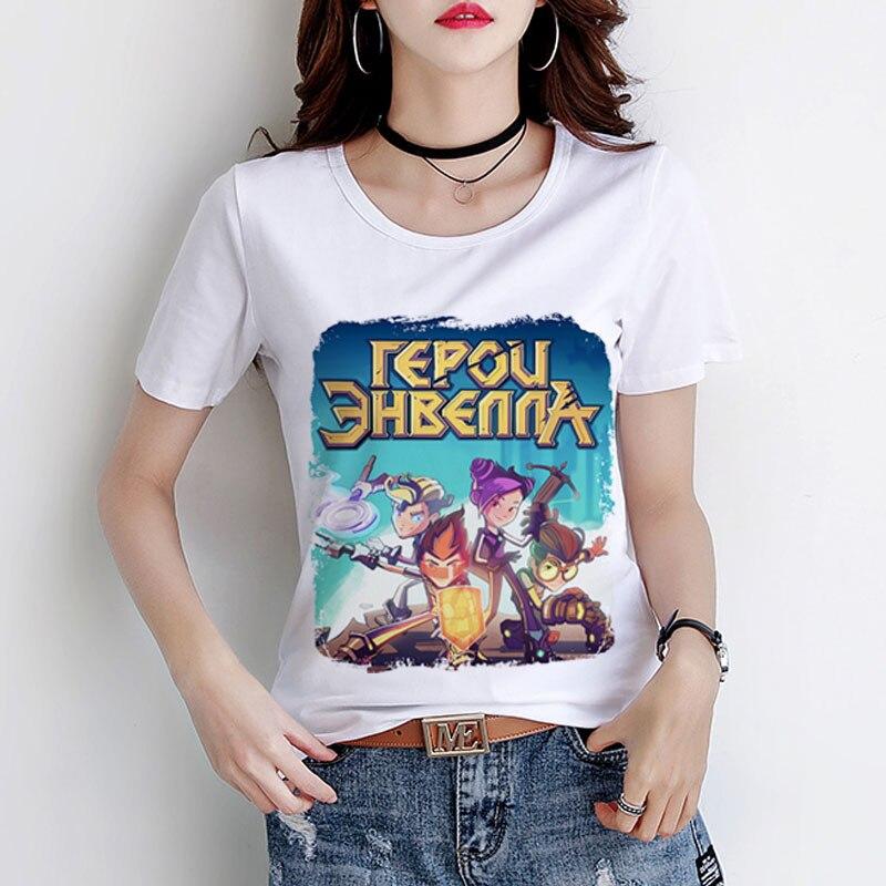 Russe animation Héros de Envell T-shirt Art Phil Vik Kira ordinateur mystérieux jeu vidéo T-shirt 3D Imprimé Enfants Adulte Chemise