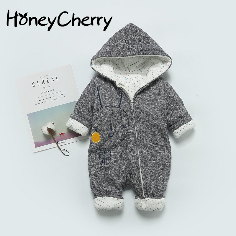 New Newborn Infant Jumpsuits And Winter Cotton Baby Romper Thickened Climb Clothes Baby Girl Coats And Jackets in the winter of 2016 new products on the market loose big yards thickened cotton linen jacquard women cotton padded clothes