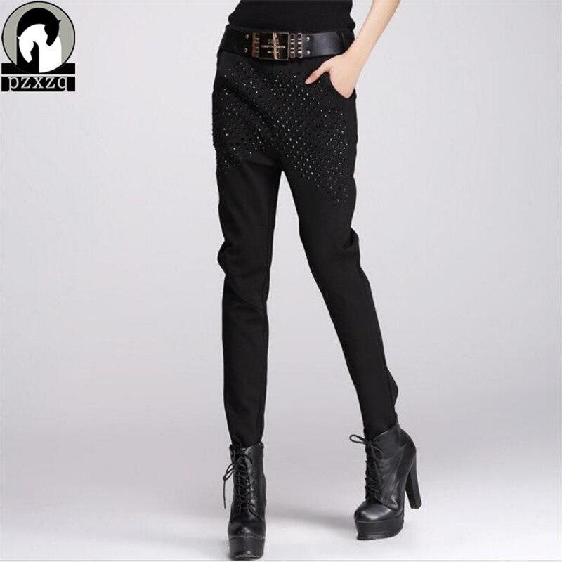 Calcas Femininas 2019 nouveau pantalon ample femme 100% coton décontracté avec + ceinture taille haute Stretch crayon pantalon femme