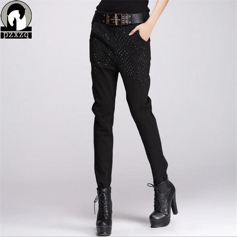 Calcas Femininas 2019 Nuevos pantalones sueltos para mujer 100% Algodón Casual Con + Cinturón de cintura alta pantalones elásticos Pantalones pantalones femeninos