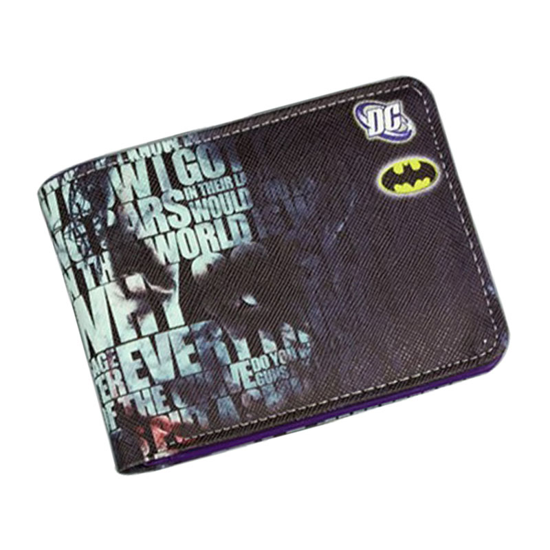 2017 New Arrival Jokers Wallets Cartoon Anime Movie Characters Purse DC Marvel Hero Dollar Bags Teenagers Leather Short Wallet 2016 new arriving pu leather short wallet the price is right and grand theft auto new fashion anime cartoon purse cool billfold