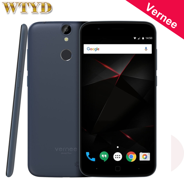 Original 4G Vernee Thor 16GB/3GB Fingerprint Identification 5.0'' Android 6.0 MTK6753 Octa Core up to 1.3GHz OTG Cell Phones