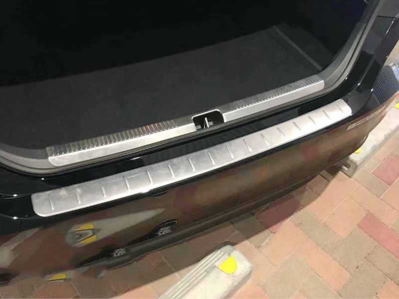 Montford Нержавеющаясталь внутренняя + внешний Задний бампер протектор потертости крышка отделка опорная плита для Toyota Camry xv70 2017 2018 2019