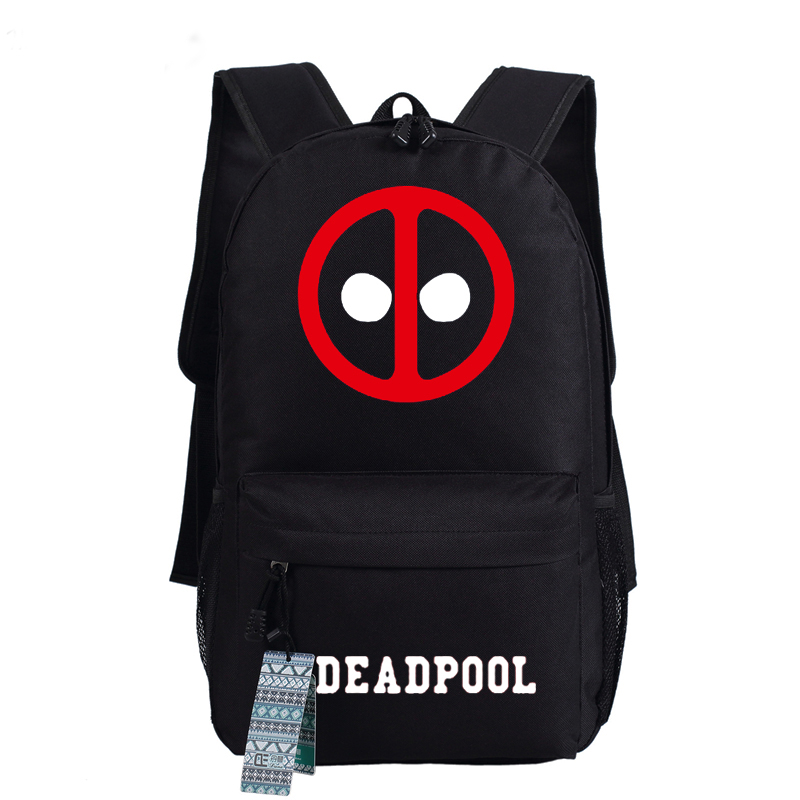 58a861dfda7 2016 Nueva Mochila Deadpool Marvel Comics Superhéroes Hombro Luminoso bolsa  de Viaje Mochila de Lona Mochila Escolar Mochila Para Adolescentes