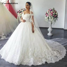 Vestido De Noiva Lace Ball Gown Wedding Dress 2019 Off Shoulder Sweetheart Backless Appliques Luxury Bridal Gowns Robe Mariee