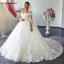 Vestido De Noiva Lace Ball Gown Wedding Dress 2019 Off Shoulder Sweetheart Backless Appliques Luxury Bridal Gowns Robe Mariee